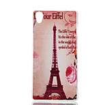Transmission Tower Pattern Painted  TPU Material Phone Case for Sony Z3