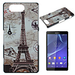 Transmission Tower Pattern Painted PC Material Phone Case for Sony Z3 Mini