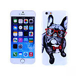 Glasses Dog Pattern TPU And IMD Soft Case for iPhone 6