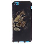el diseño de la cara del león TPU suave para 5c iphone