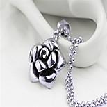 Romantic Fashion Rose Flower Pendant(Steel Color)(1Pc)