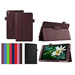 8 Inch Lichee Pattern PU Leather Stand Case for Huawei MediaPad M1(S8-301W)(Assorted Colors)