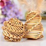 Hand-Woven Natural Straw Design Interative Double Ball Toys for  Cats