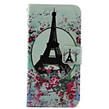 Blossom  Pattern PU Leather Phone Case for iPhone5/5S