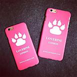 iphone 5 5s 6plus coperture del telefono alla moda bello sveglio zampa di gatto gattino gattino zampa del cane modello