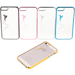Laser Carving Angel Pattern PVC Hard Case for iPhone 6(Assorted Color)