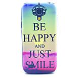 glücklich lächelnd mustern harter Fall für Samsung i9190 s4 Mini