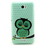 Sleeping Owl   Pattern TPU Soft Case for Sony E4
