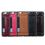 Special Design High-Grade Leather Card TPU Back Case for iPhone 6 (Assorted Colors)