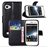 lichia em torno de suporte aberto telefone couro cartão da carteira adequado para Wiko Cink fino (cores sortidas)