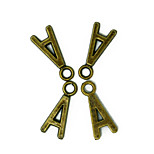 Beadia 100PCS Alphabet Letter A 7x16mm Antique Bronze Alloy Charms Pendants DIY Accessories