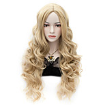 Movie Wig Long Charming Curly Cosplay Costume Full Heat resist Wig Flaxen
