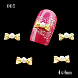 005 Alloy Rhinestone Bow Tie Nail Art 10pcs/lot DIY Bowtie Nail Glitters Slices Alloy Decoration Jewelry Accessories