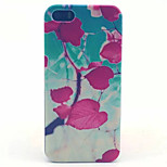 Red leaves Pattern Transparent Frosted PC Back Cover For  iPhone 5/5S