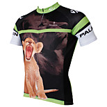 PaladinSport Men's Short Sleeve Cycling Jersey New Style Small lion 100% Polyester