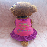 holdhoney rosa Rose Rand Druck Herzbaumwollweste kleidet für Haustiere Hunde (verschiedene Größen) # lt15050110