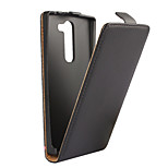 Genuine Leather Vertical Flip Magnetic Button Leather Case for LG Magna (Assorted Colors)