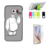 Hello Baymax Design Hard Case with Screen Protector and Stand Holder for Samsung Galaxy S6