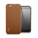 The following case metal frame Do not lose color leather back cover luxury anti-throw pure color Apply to iphone6/6 s