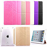KARZEA™ Grass Pattern Removable Multi-fold PU Leather Case with Stand and Stylus for iPad 2/3/4 (Assorted Colors)