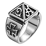 Paranormal Exaggerated Personality Rock Titanium Steel Stainless Steel Men's Ring