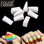 15PCS Triangle White Manicure Sponge Nail Art Stamper Stamping Sponge Gradient Color DIY Tools for Nail Design
