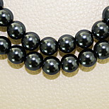 Beadia 3 Str(approx 580pcs) Fashion 4mm Round Glass Pearl Beads Black Color DIY Spacer Loose Beads