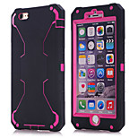 2015 new for iPhone6 three in one robot shell (Black Silicone + Red PC)
