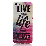 Live Life Pattern TPU Soft Material Phone Case for iPhone 5/5S