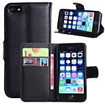 Litchi Around Open Bracket Leather Phone Wallet Card Suitable for iPhone 5/5S(Assorted Color)