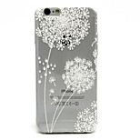 The Dandelion Pattern TPU Soft Case for iPhone 6