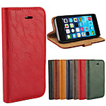 Elegant Retro Leather Grain PU Leather Case for iPhone 5/5S (Assorted Colors)