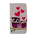 Magic Spider®White Owl Pattern PU Full Body Case Stand with Screen Protector for Sony E4