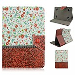 Flower and Leopard Wave Pattern Magnetic Flip Stand Universal PU Leather Case for 7'' Tablet PC (Assorted Color)