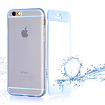 Transparent Flip Free Turn Touch TPU Phone Case for iPhone 6 Plus(Assorted Colors)