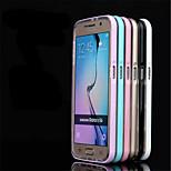 multicolore cadre de piano métallique + TPU cas de téléphone pour (couleurs assorties) Samsung Galaxy S