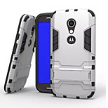 Iron Man Style Plastic Hard Case with Stand for Motorola G2(Assorted Colors)