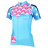 PaladinSport Women Short Sleeve Cycling Jersey New Style Bear DX501 100% Polyester