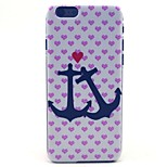 Love Anchor Heart Pattern Hard Case Cove for iPhone 6