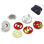 10 Sets Metal Bag Sewing Magnetic Clasp Buttons 0.7