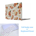 Top Quality Flower Pattern Full Body Case Cover and TPU Keyboard Cover for Macbook Air 11.6 inch