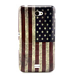 Retro National Flag Pattern TPU Soft Case for Sony E4