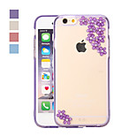 Fashion 3D Design  with Sakura Pattern PC Back Cover for iPhone 6 Plus(Assorted Color)