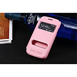 PU nahka erityinen muotoilu runko avaa ikkunan tapauksessa Samsung Galaxy Ace 4 g313h (valikoituja väri)