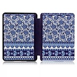Blue and White PU Leather Slim Smart Full Body Case for Kindle 2014