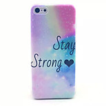 Bright Star Pattern Transparent Frosted PC Back Cover  For iPhone 5C