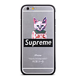 Fashion Elk Sweater Clothes Cat Pattern Frame Back Cover for iPhone 6