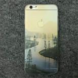 la peinture de paysage cas modèle de téléphone TPU pour iPhone 6