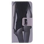 modedesign coco fun® sexig tjej mönster plånbok slits hela kroppen pu läderfodral för Samsung Galaxy S4 mini i9190