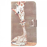 Giraffe Pattern PU Leather Case with Stand and Card Slot for LG G3